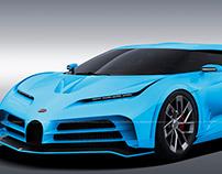 2020 Bugatti Centodieci Ciel Bleu