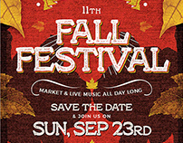 Fall Festival Flyer Template V2