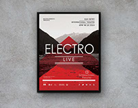 Electro Music -Flyer Template