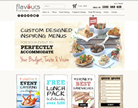 Flavours Catering & Events Website Graphics