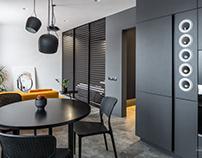 Interior photoshoot of small apartment in Kyiv, Ukraine