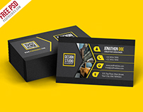 Free PSD : Creative Black Business Card Template PSD