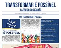 Projeto gráfico e editorial Jornal Transformar