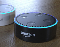 Amazon Echo Dot - Renders