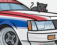 Japanese Car Illustrations