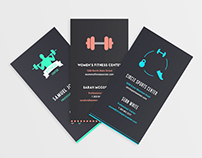 Business Cards: Fitness club