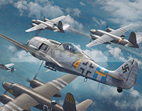 FW190 vs Marauders - Eduard Model Accessories boxart
