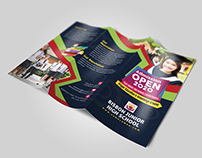 School Admission Trifold Brochure Template