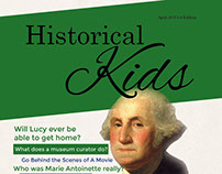 Historical Kids Magazine Mock Up