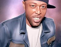 Black Rob Digital Art by Wayne Flint