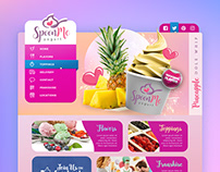 Fun and Trendy Website Design for a Frozen Yogurt Shop