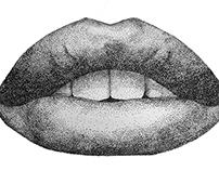 Lips poster design