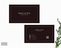 Free Sober Business Card Template V2