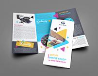 Print Shop Tri-Fold Brochure Template