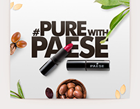 Paese Cosmetics Ind, #PureWithPaese | Digital Campaign.