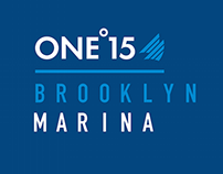 One°15 Brooklyn Marina Branding