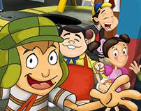 Poster del juego El Chavo - Promo Marinela