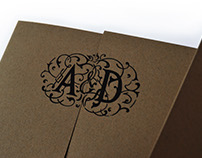 Annie & Daniel Custom Wedding Invitations