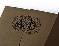 Annie & Daniel Custom Wedding Invitations