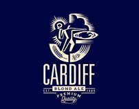 Cardiff Blond Ale Microbrew Branding
