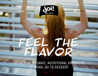 JOI Vegan Creamery - website design