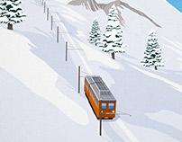 Zermatt Ski Train Poster