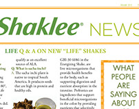 Independent Distributor, Shaklee Newsletter