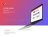 Wynk Music Desktop Design