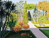 Garden drawing on digital