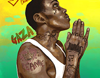 Graphic Paint of Reggae and Hiphop Artists