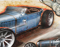 Blue Roadster Concept Sketches