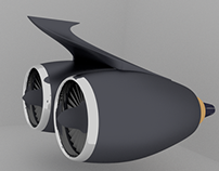 Jet Styled Engine – blender3d
