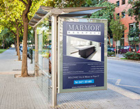 Advertising for bus stops made for Marmor Menapace