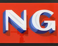 NG GLASS SIGN