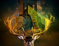 Manipulation Art Deer