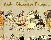 Arab - ancient Arab character design