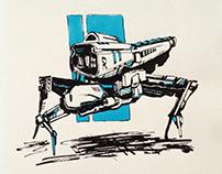 March of Robots - Illustration