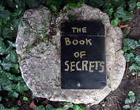 the book of secrets (wood/found object)