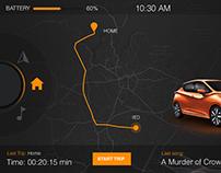 HMI concept - dark/orange