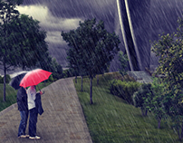 3D Visualization • Tower [rain]