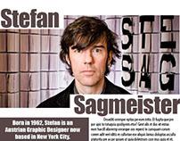 Stefan Sagmeister Magazine Spreads Designs