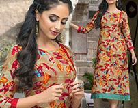 Agreeable Designer Multicolor Printed High Low Kurtas