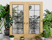 3D Product Visualization | Barn Doors