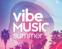 Vibe Summer Music PSD Flyer Template