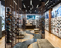 Outdoor shoe store interior