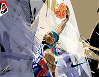 Abstract Illustration of Lebron
