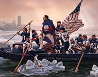 Patriots Crossing the Charles