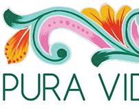 Pura Vida Moms logo and business cards