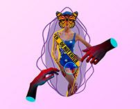 Virgen a los 26 - Collage para Lolas Magazine