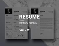 Minimal Resume Vol- 02